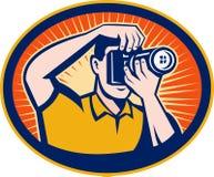Cámaras digitales del fotógrafo SLR libre illustration