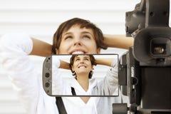 Cámaras digitales video Foto de archivo libre de regalías