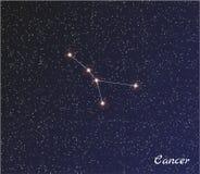 Cáncer de la constelación Foto de archivo libre de regalías
