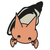 Cáncer de la muestra del zodiaco del conejito en estilo de la historieta libre illustration