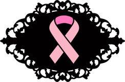 Cáncer de pecho Logo Pink Ribbon Fotografía de archivo libre de regalías