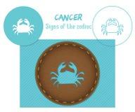 cáncer Muestras del zodiaco Corte del laser E fotos de archivo libres de regalías