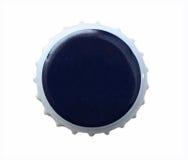 Cápsula azul del metal de la cerveza Imagenes de archivo