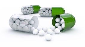 Cápsula com bolas de golfe ilustração stock