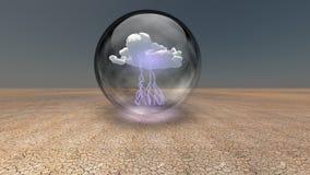 Cápsula da chuva ilustração stock
