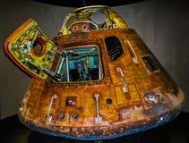 Cápsula de espacio de Apolo 13 en el centro de espacio de Kennedy Cabo Cañaveral la Florida los E.E.U.U. imagen de archivo libre de regalías