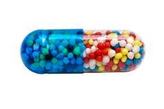 Cápsula de la medicina.   Foto de archivo libre de regalías
