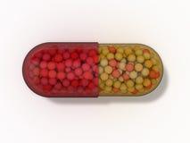 Cápsula de la píldora Fotografía de archivo