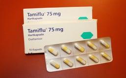 Cápsula de Tamiflu Fotos de archivo libres de regalías
