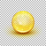 Cápsula suave transparente del gel EPS 10 ilustración del vector