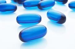 Cápsulas azuis Fotografia de Stock