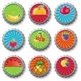 Cápsulas con sabor a fruta - conjunto Fotos de archivo libres de regalías