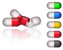 Cápsulas da medicamentação ilustração royalty free