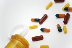 Cápsulas de la farmacia Imágenes de archivo libres de regalías