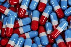 Cápsulas de la medicina (acetaminophen genérico) Fotografía de archivo libre de regalías