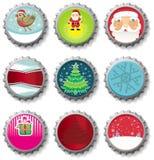 Cápsulas de la Navidad Imagenes de archivo