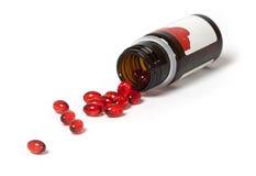 Cápsulas de la vitamina E Fotos de archivo libres de regalías