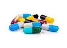 Cápsulas de las píldoras Foto de archivo libre de regalías