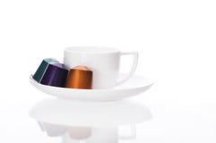 Cápsulas del café Imágenes de archivo libres de regalías