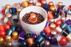 Cápsulas del café Foto de archivo libre de regalías