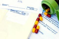Cápsulas del plan de la droga de la compañía Imágenes de archivo libres de regalías
