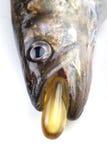 Cápsulas do óleo de peixes Imagens de Stock