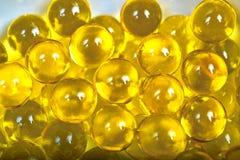 Cápsulas do óleo de peixes Foto de Stock Royalty Free