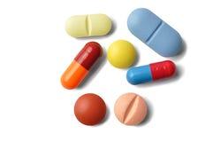 Cápsulas e comprimidos foto de stock