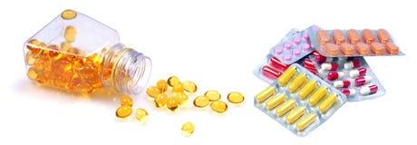 Cápsulas e comprimidos Fotos de Stock Royalty Free