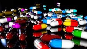 Cápsulas médicas Fotografia de Stock