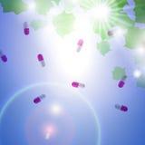 Cápsulas médicas do comprimido Foto de Stock