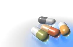 Cápsulas médicas - píldoras Foto de archivo libre de regalías