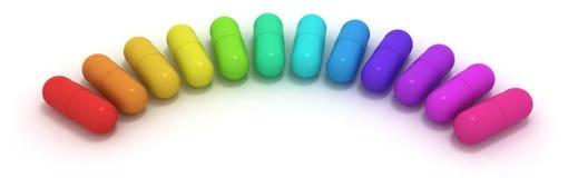 cápsulas Muito-coloridas Foto de Stock Royalty Free