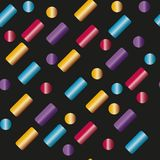 Cápsulas multicoloras del modelo inconsútil, palillos ilustración del vector