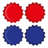Cápsulas rojas y azules Foto de archivo libre de regalías