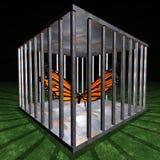 Cárcel - prisión para una mariposa libre illustration