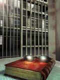 Cárcel y biblia stock de ilustración