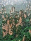 Cársico da coluna da montanha de Tianzi na área cênico de Wulingyuan, Zhangjiajie Forest Park nacional, Hunan, China foto de stock royalty free