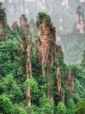 Cársico da coluna da montanha de Tianzi na área cênico de Wulingyuan, Zhangjiajie Forest Park nacional, Hunan, China imagens de stock