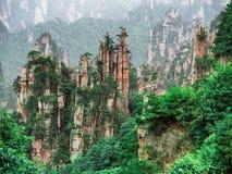 Cársico da coluna da montanha de Tianzi na área cênico de Wulingyuan, Zhangjiajie Forest Park nacional, Hunan, China imagem de stock royalty free