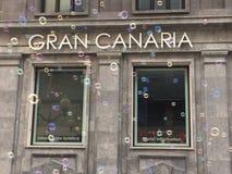 Cártel de Gran Canaria Foto de archivo