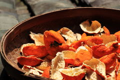Cáscara anaranjada Imagen de archivo