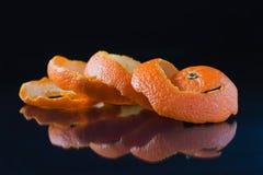 Cáscara anaranjada espiral foto de archivo