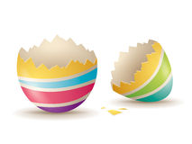Cáscara de huevo agrietada