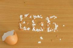 Cáscara de huevo puesta Fotografía de archivo libre de regalías