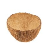Cáscara de la fruta del coco cortada por la mitad Fotos de archivo libres de regalías