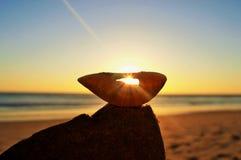 Cáscara de la puesta del sol Imagen de archivo libre de regalías