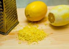 Cáscara de limón Imagenes de archivo