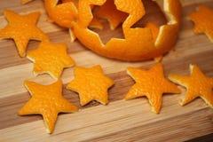 Cáscara de naranja de estrellas Fotos de archivo libres de regalías