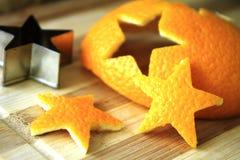 Cáscara de naranja de estrellas Imagen de archivo libre de regalías